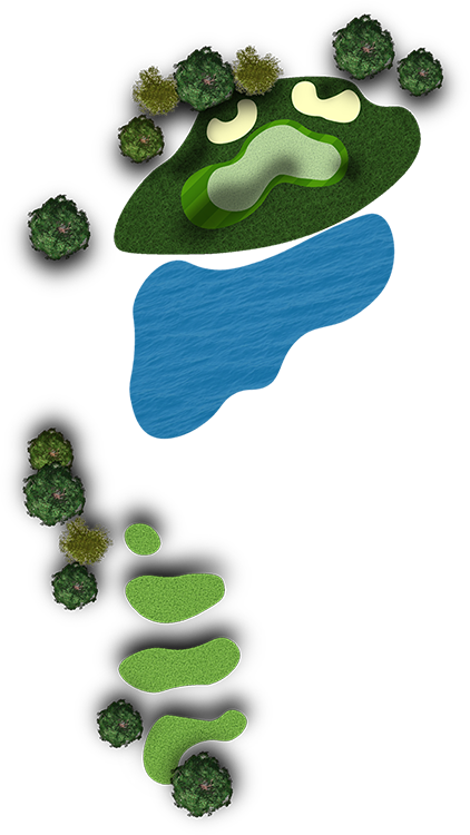 The course quarry oaks. Lake clipart water hole