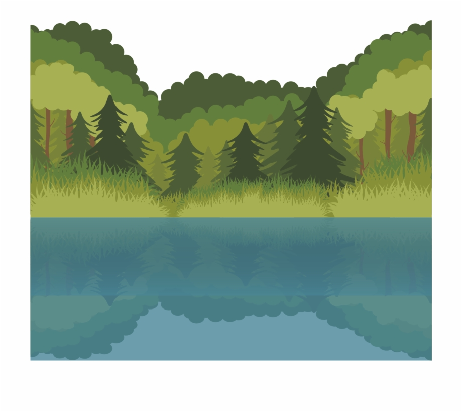 Euclidean forest pngtube . Lake clipart water lake