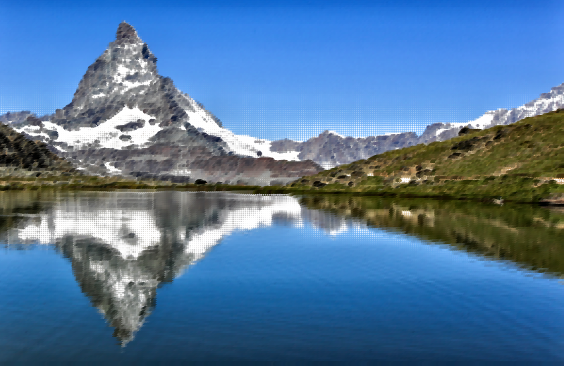 Lake clipart wilderness. Surreal swiss mountain medium