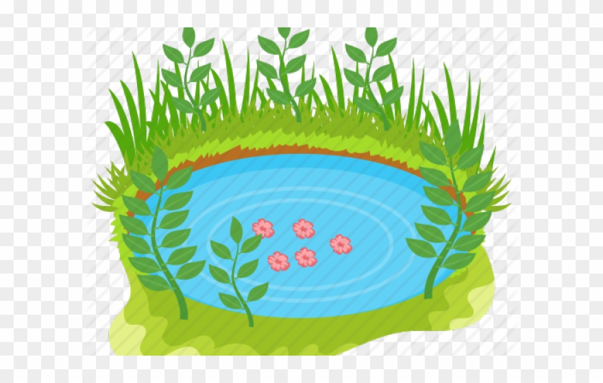 Green illustration png download. Lake clipart nature