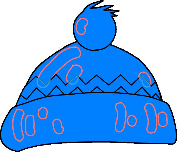 Czapka zimowa niebieski cliparty. Glitter clipart winter