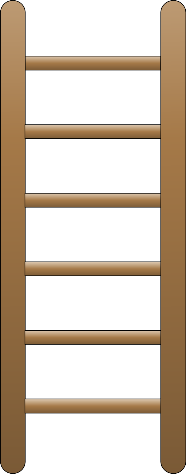 Ladder clipart tall ladder. Small wooden step ladders