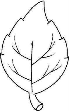 Clipart leaf. Fall template oak outline