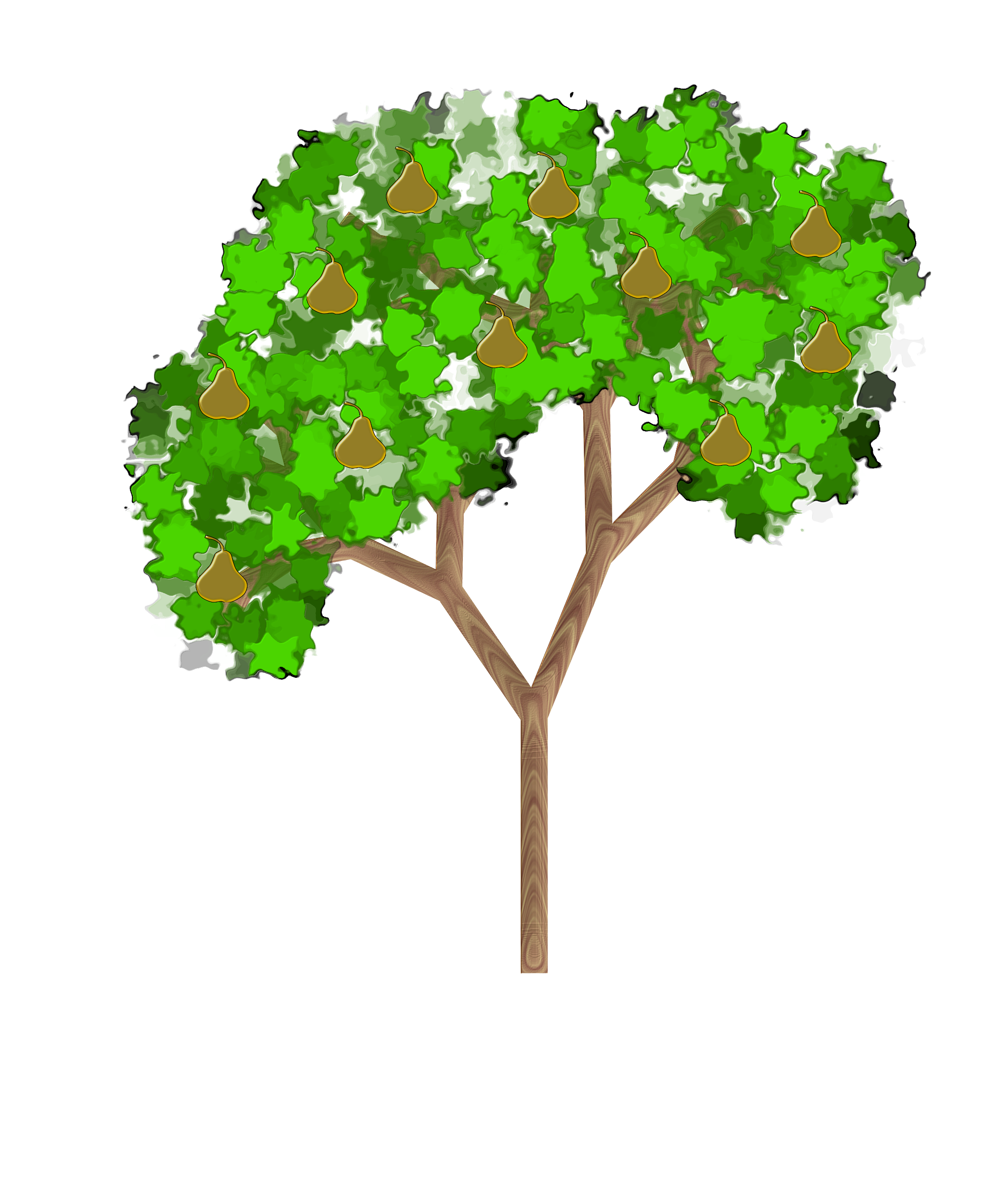 Tree big image png. Pear clipart jambu