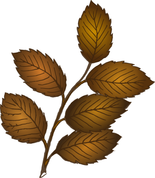 Swamp clipart vector. Fall leaves branch clip