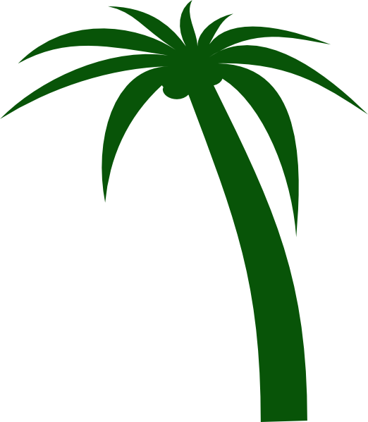 Clip art at clker. Clipart leaf coconut tree
