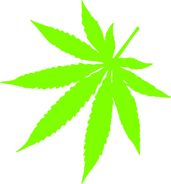 Marijuana clipart daun. Left corner pot leaf