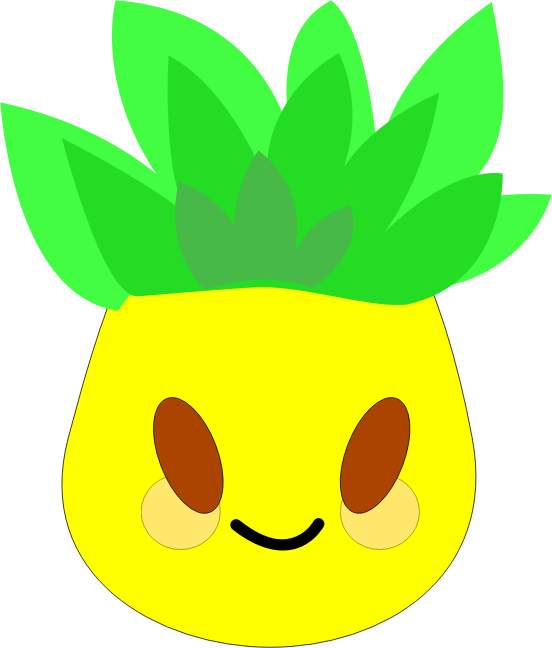 Pineapple simple pencil and. Clipart leaf easy