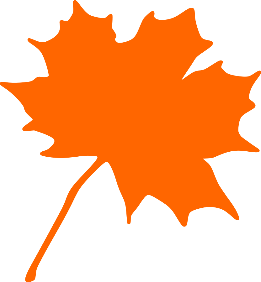Clipart leaf easy. Free maple silhouette download