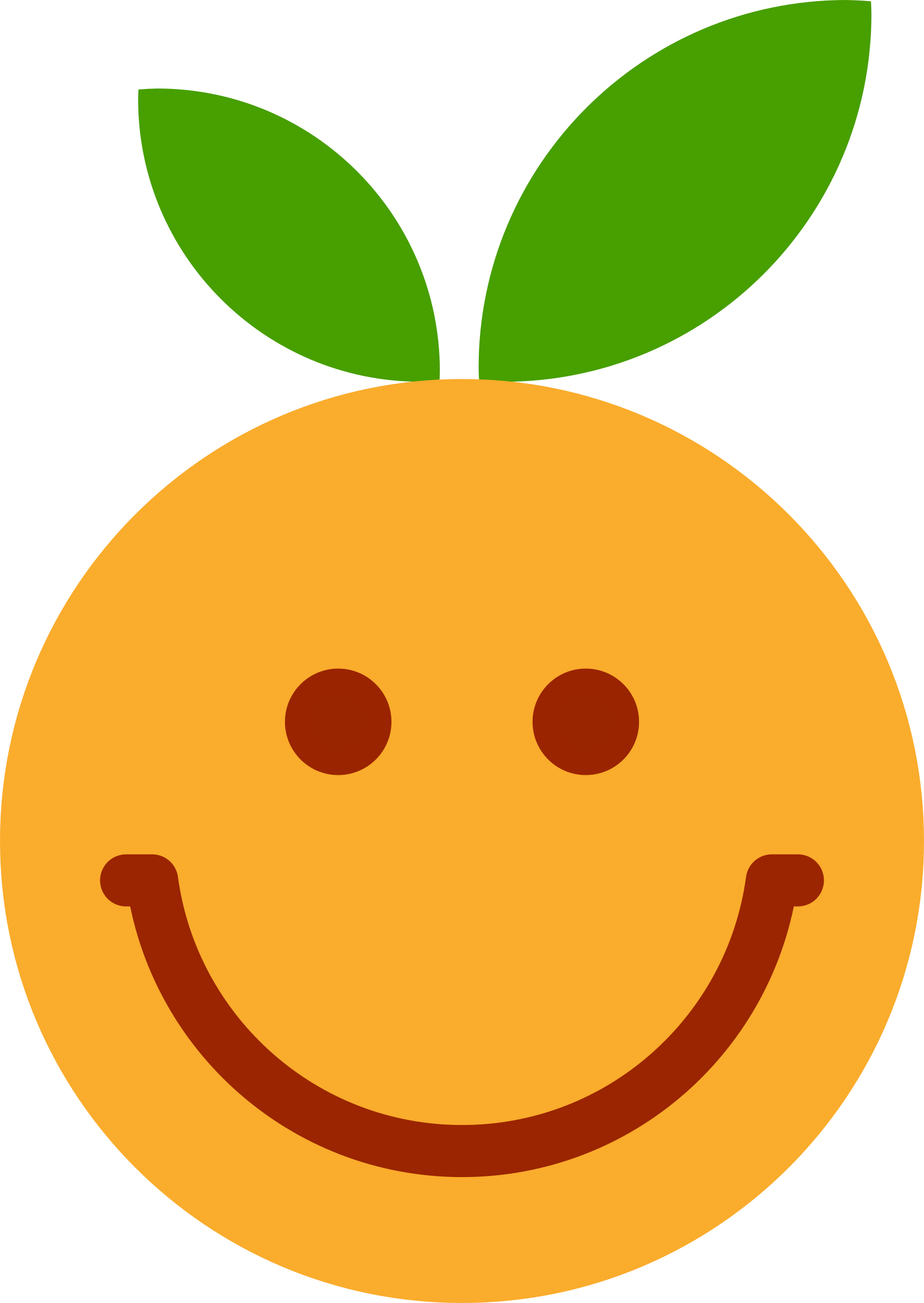 Smiley clem sourire big. Leaf clipart face