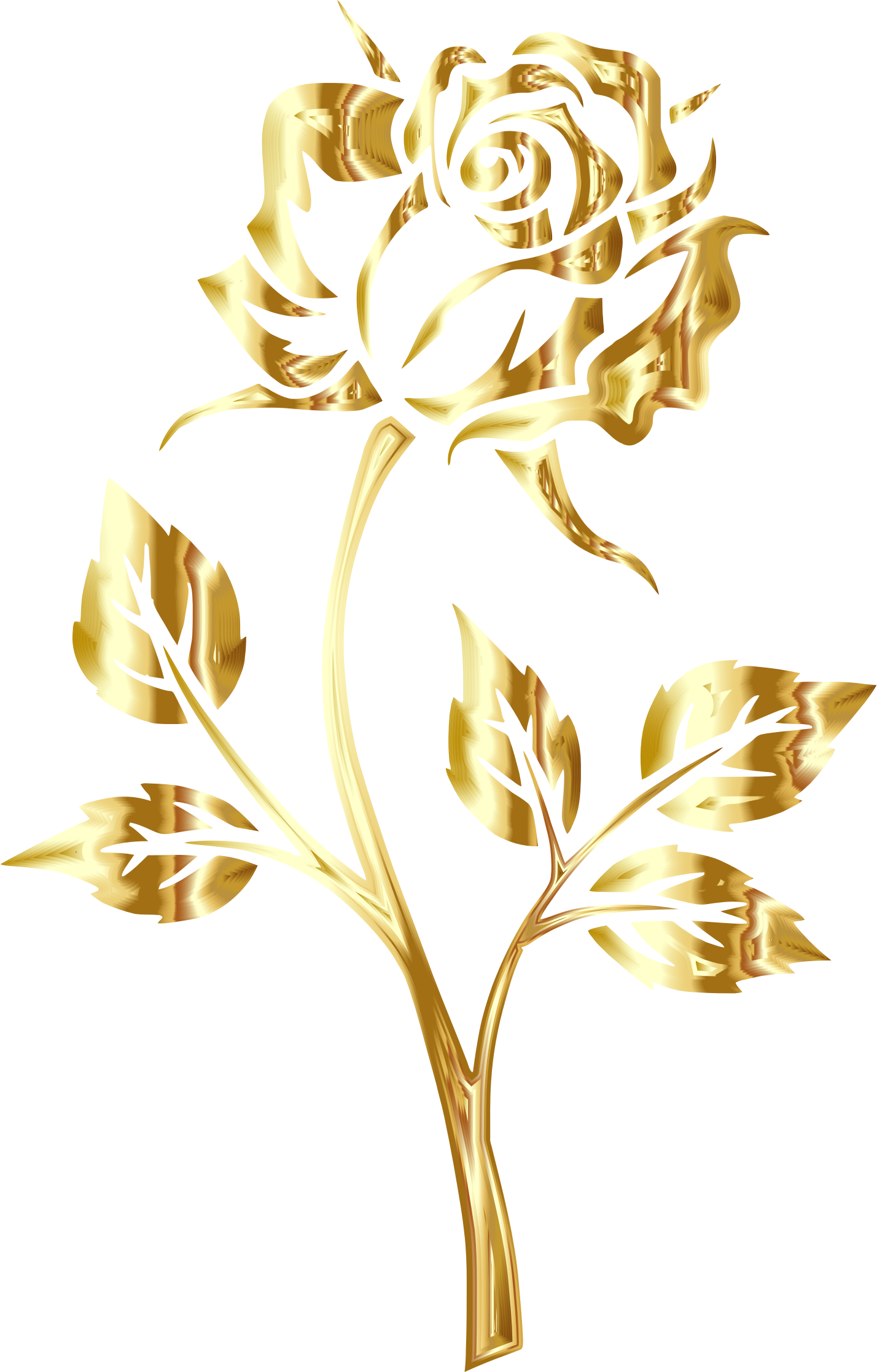 Clipart rose clear background. Golden no