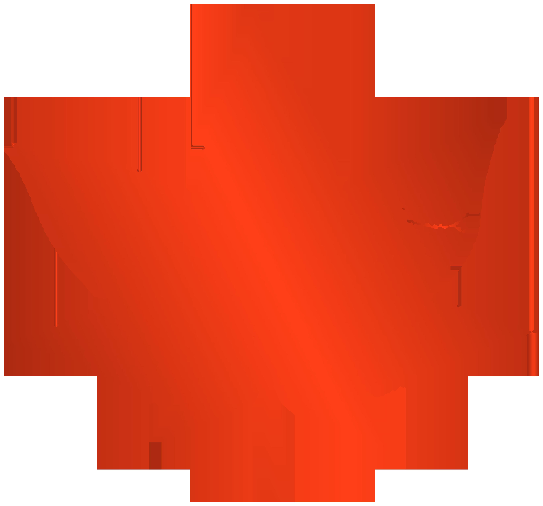 Transparent red autumn leaf. Clipart turkey pink