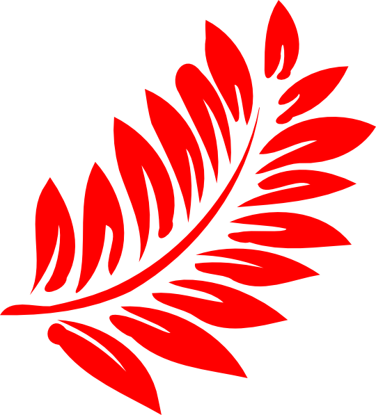 Red plant . Leaf clipart fern