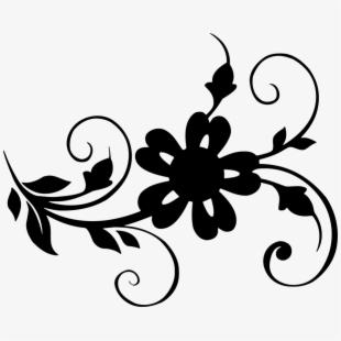 Clipart leaf floral. Nature flowers elements leaves