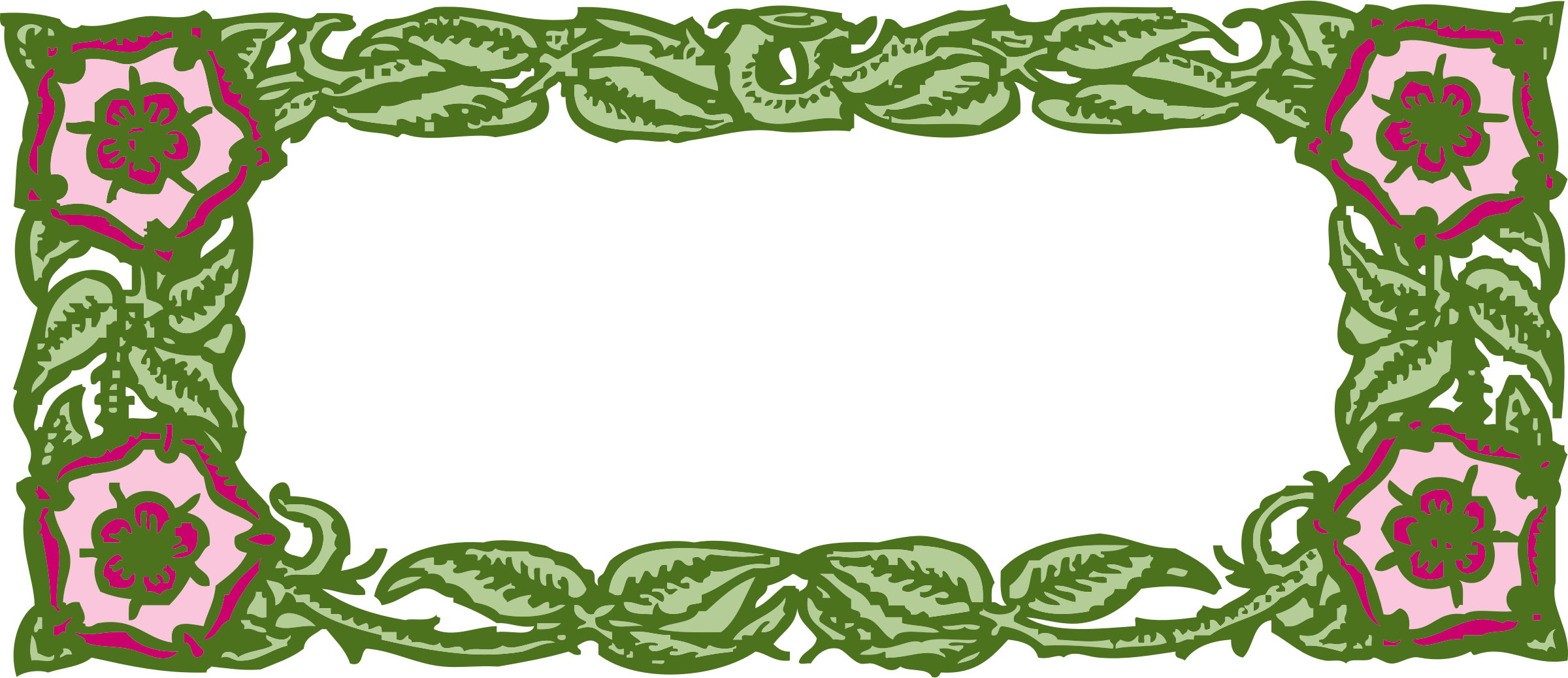 Frame big image png. Clipart leaf floral