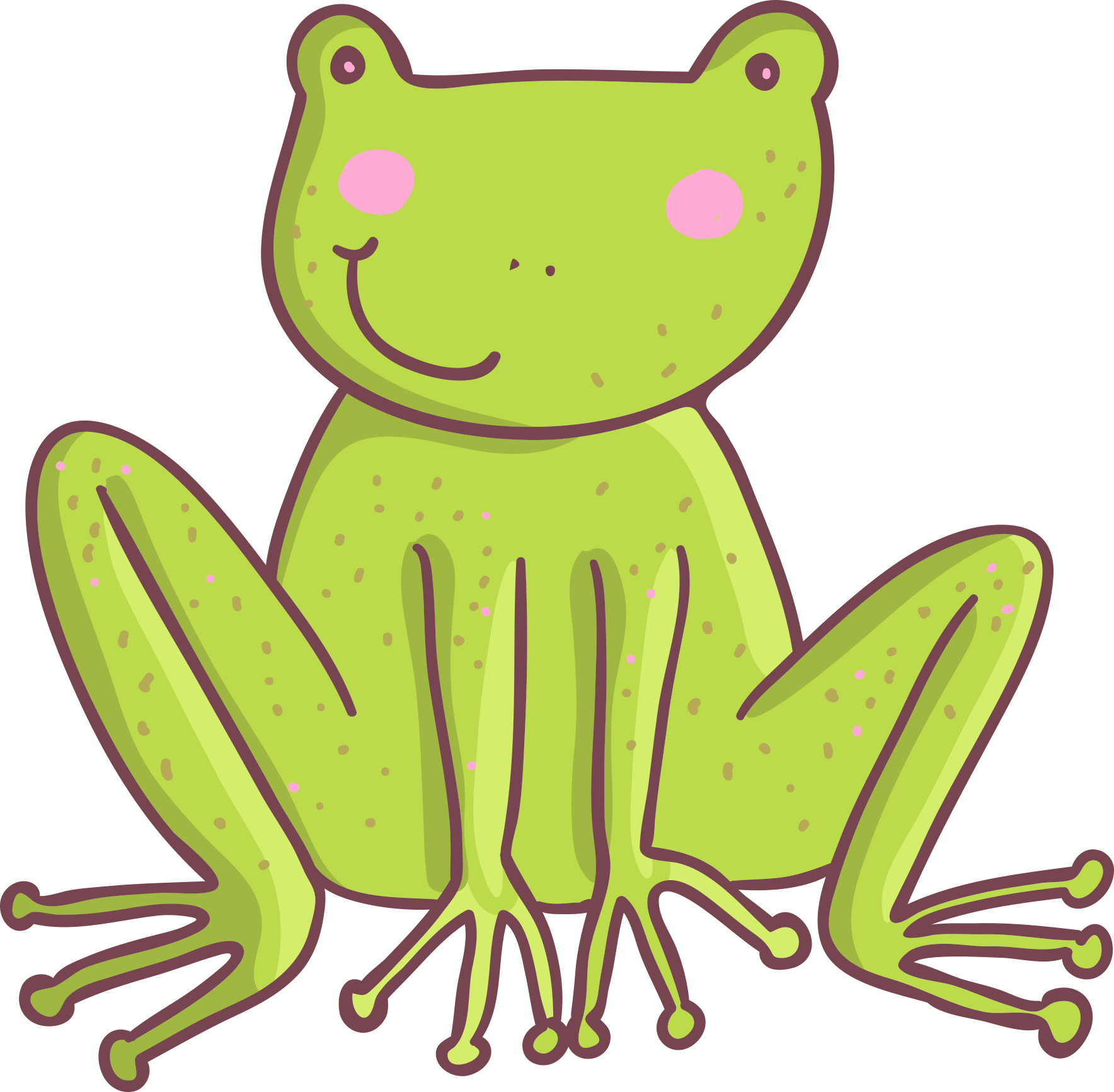 Five little speckled frogs. Toad clipart many frog