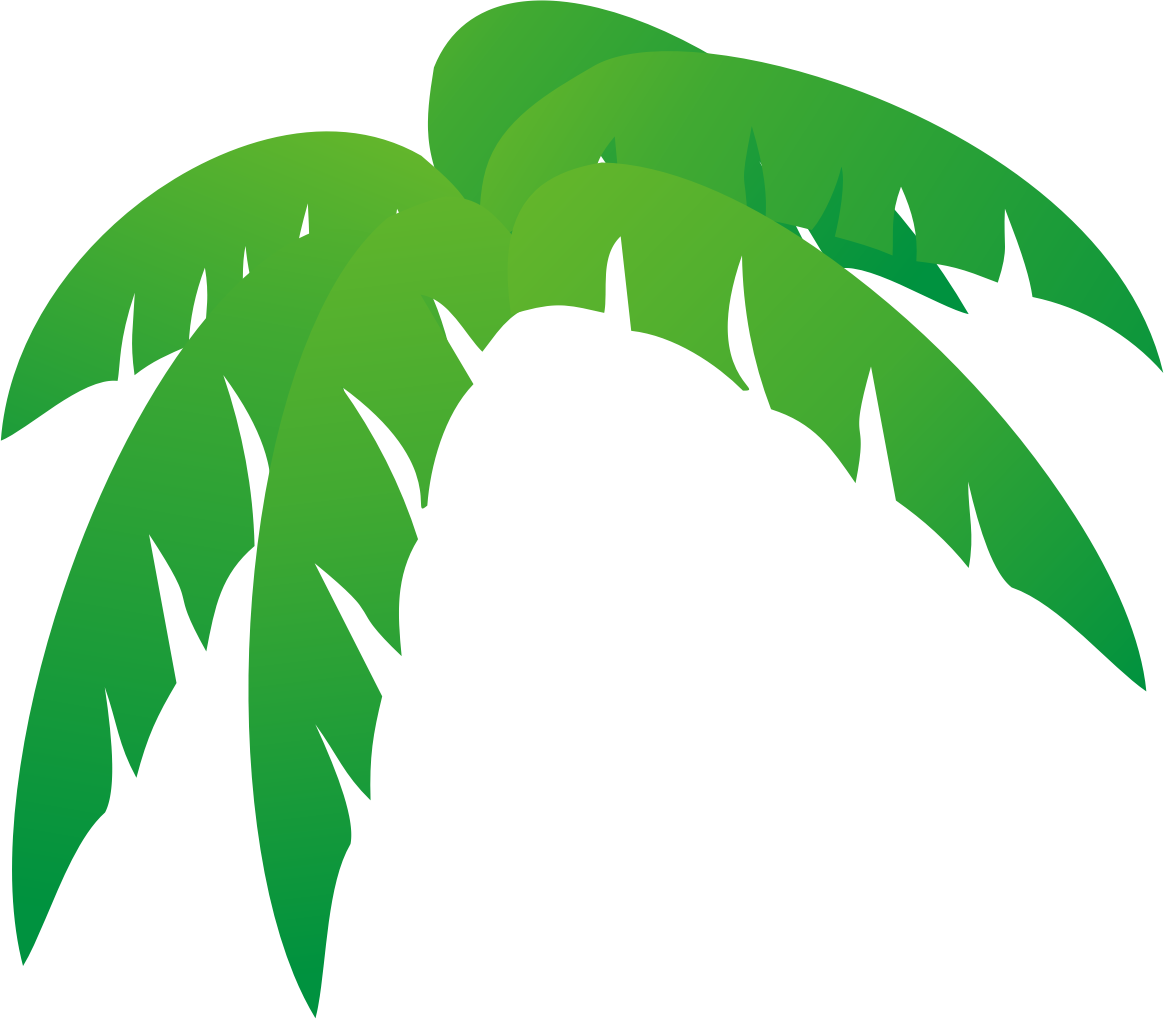 Vines and leaves drawing. Windy clipart palm tree