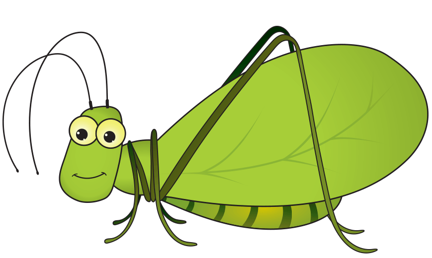 Insect interviews merging humor. Insects clipart katydid