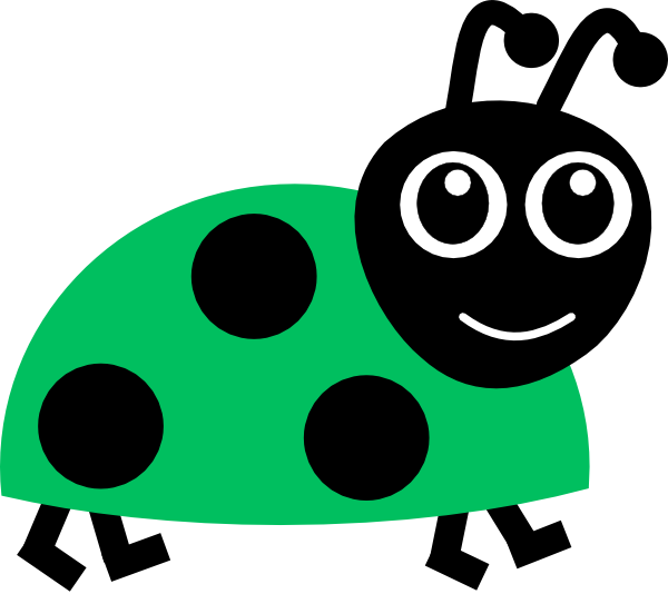 Ladybug clipart animated. Green clip art at