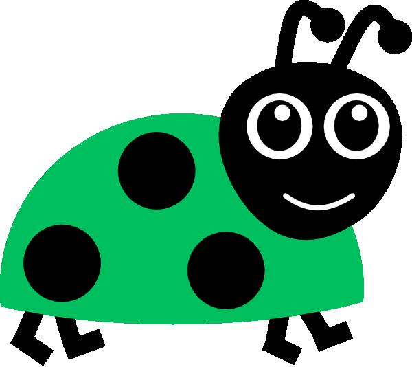 Green ladybug clip art. Ladybugs clipart border