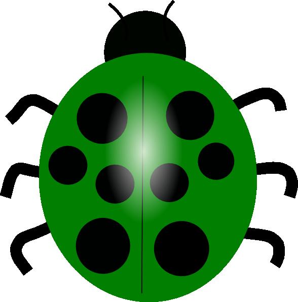 Ladybugs clipart leaf clip art. Green ladybug at clker