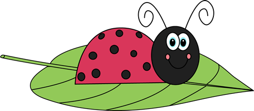 Ladybug on a image. Ladybugs clipart leaf clip art