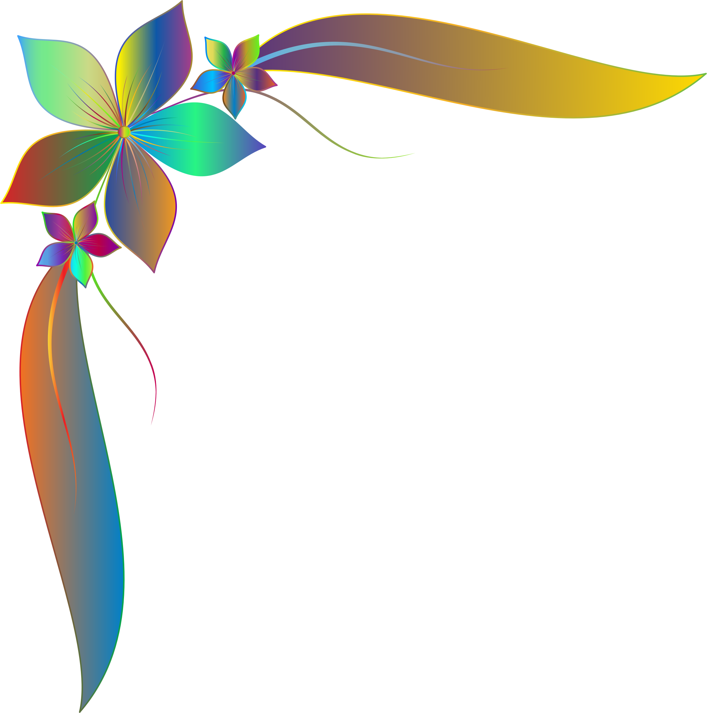 Prismatic simple corner big. Leaf clipart ornament