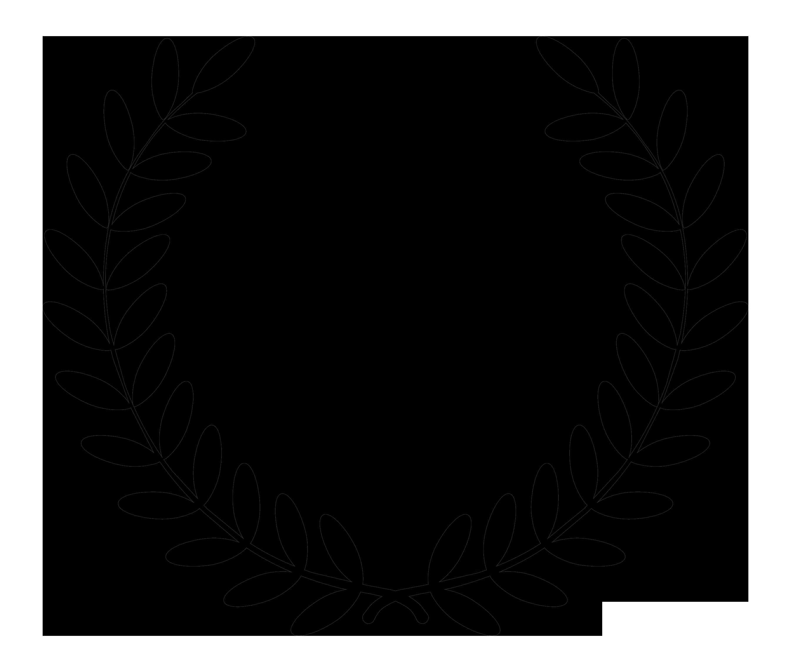 Fern clipart service award. Leaf wreath free download