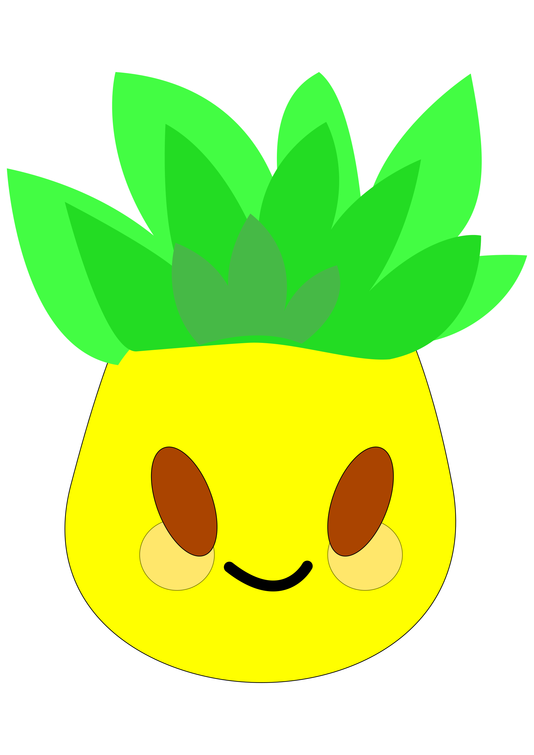 Pineapple clipart pdf.