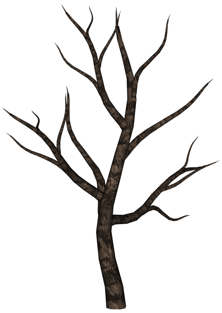 Spooky by ecathe art. Stick clipart brown tree branch