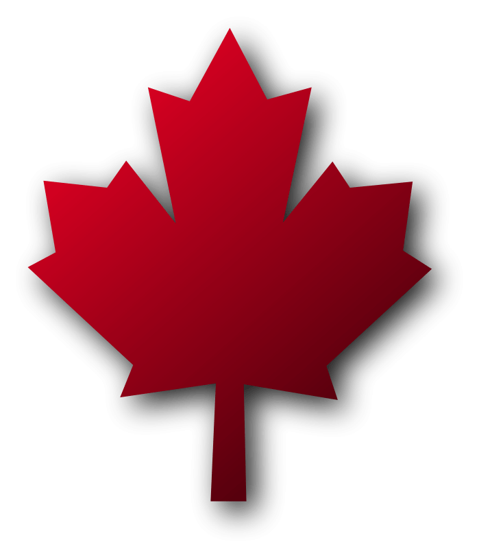 Leaf clipart shadow. Canadian maple with transparent