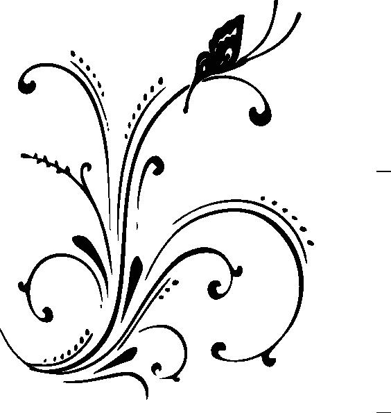 Leaf clipart shadow. Butterfly scroll sans clip