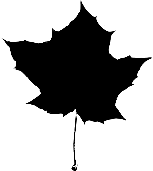 Leaf clipart black and white. Silhouette clip art at