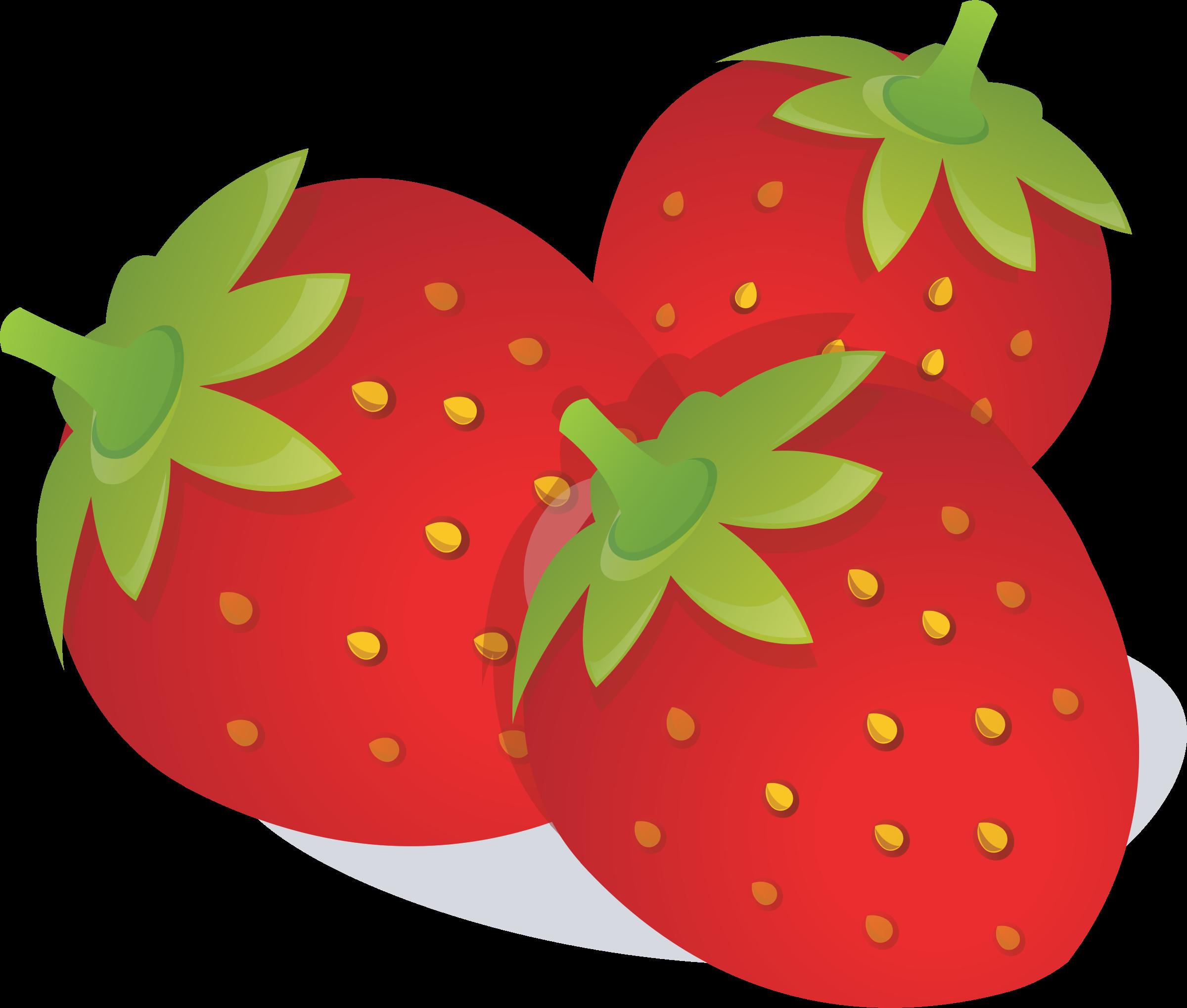 Strawberries clipart stem.