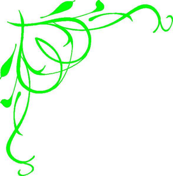 Clipart leaf swirl. Lime green heart swirls