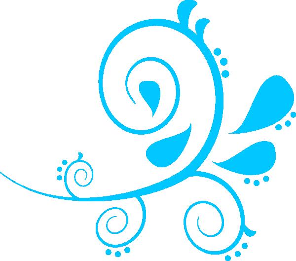 Paisley aqua clip art. Clipart wave swirl