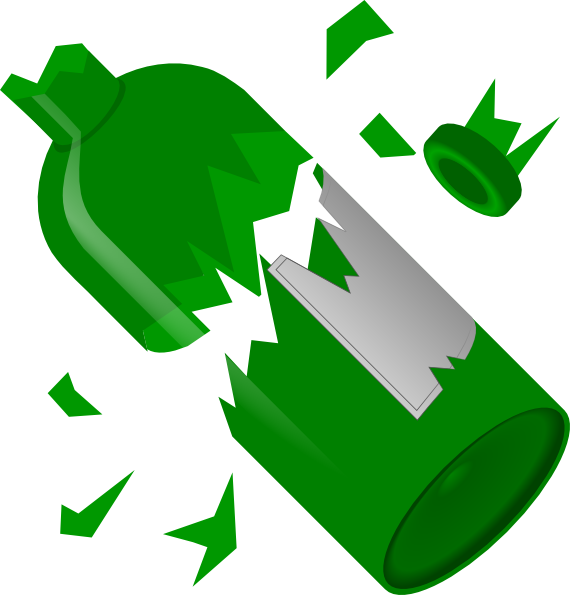 Broken wine bottle clip. E clipart litter