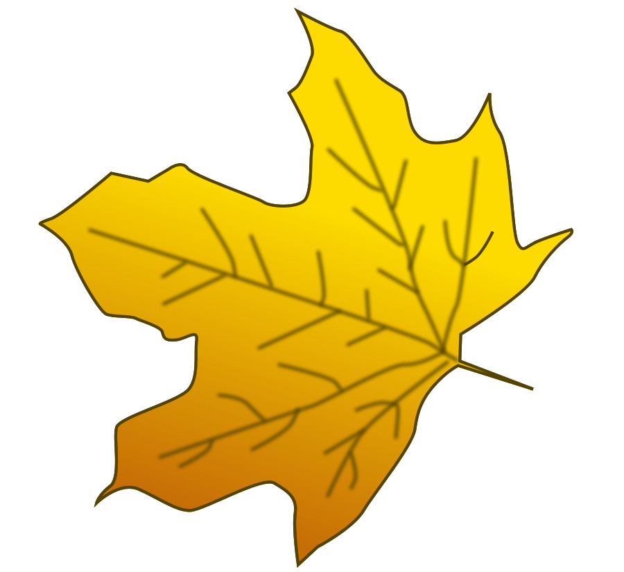 Leaf clipart animation.  collection of yellow