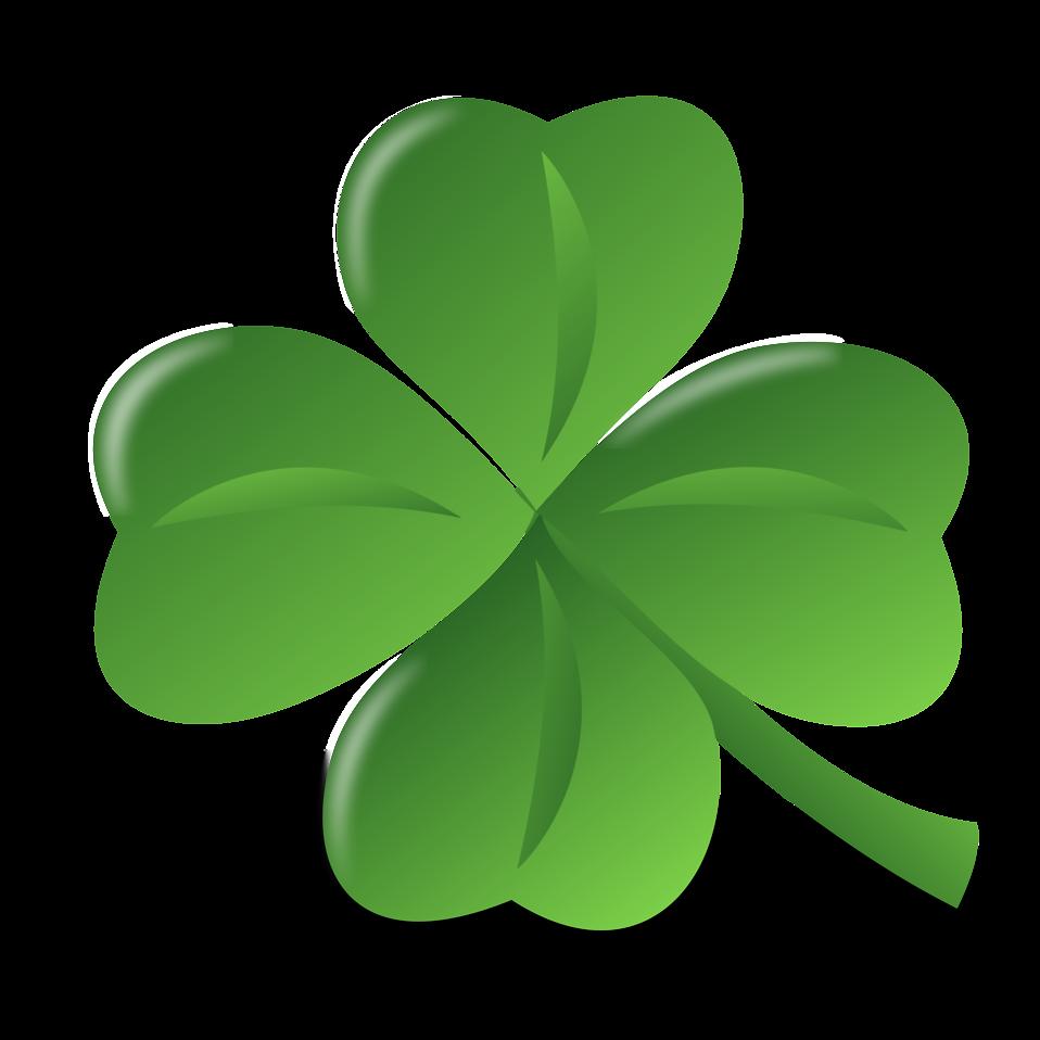 Four leaf clover free. Green clipart transparent background