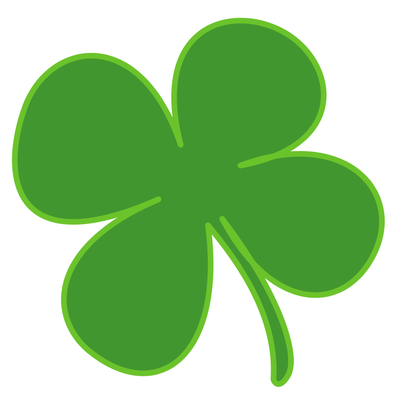 Four leaf free stock. Clover clipart clear background