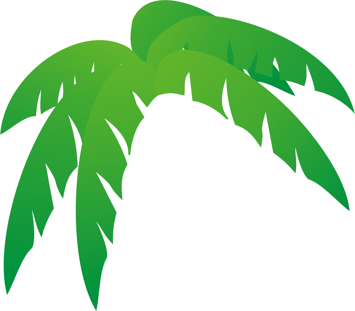 Hawaiian clipart coconut tree. Palm leaves silhouette at
