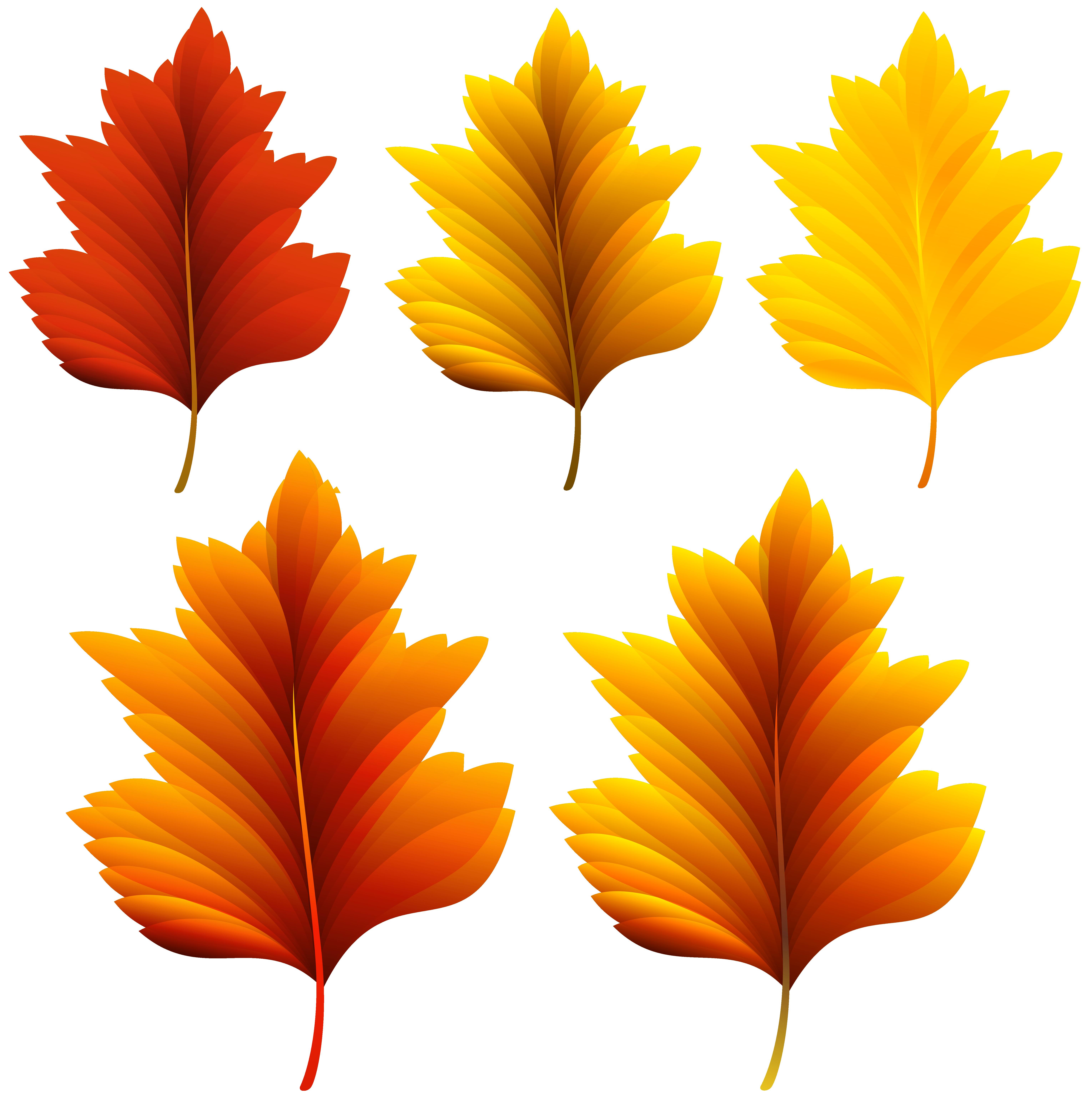 Beautiful leaves set png. Clipart fall pretty fall