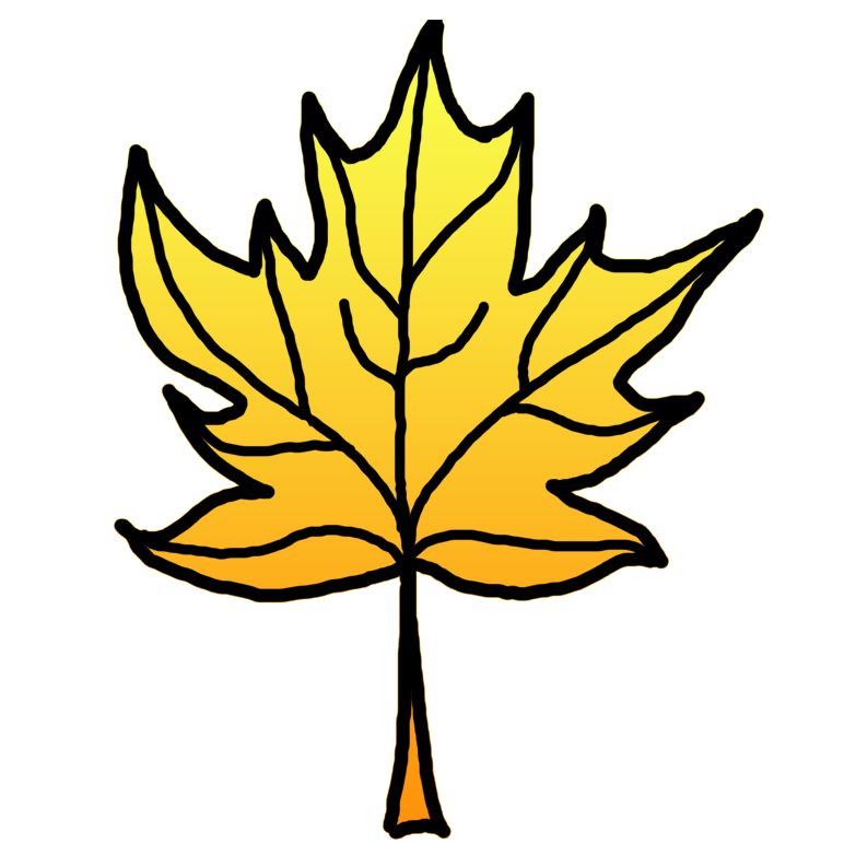 Clipart leaves color. Yellow leaf pencil and