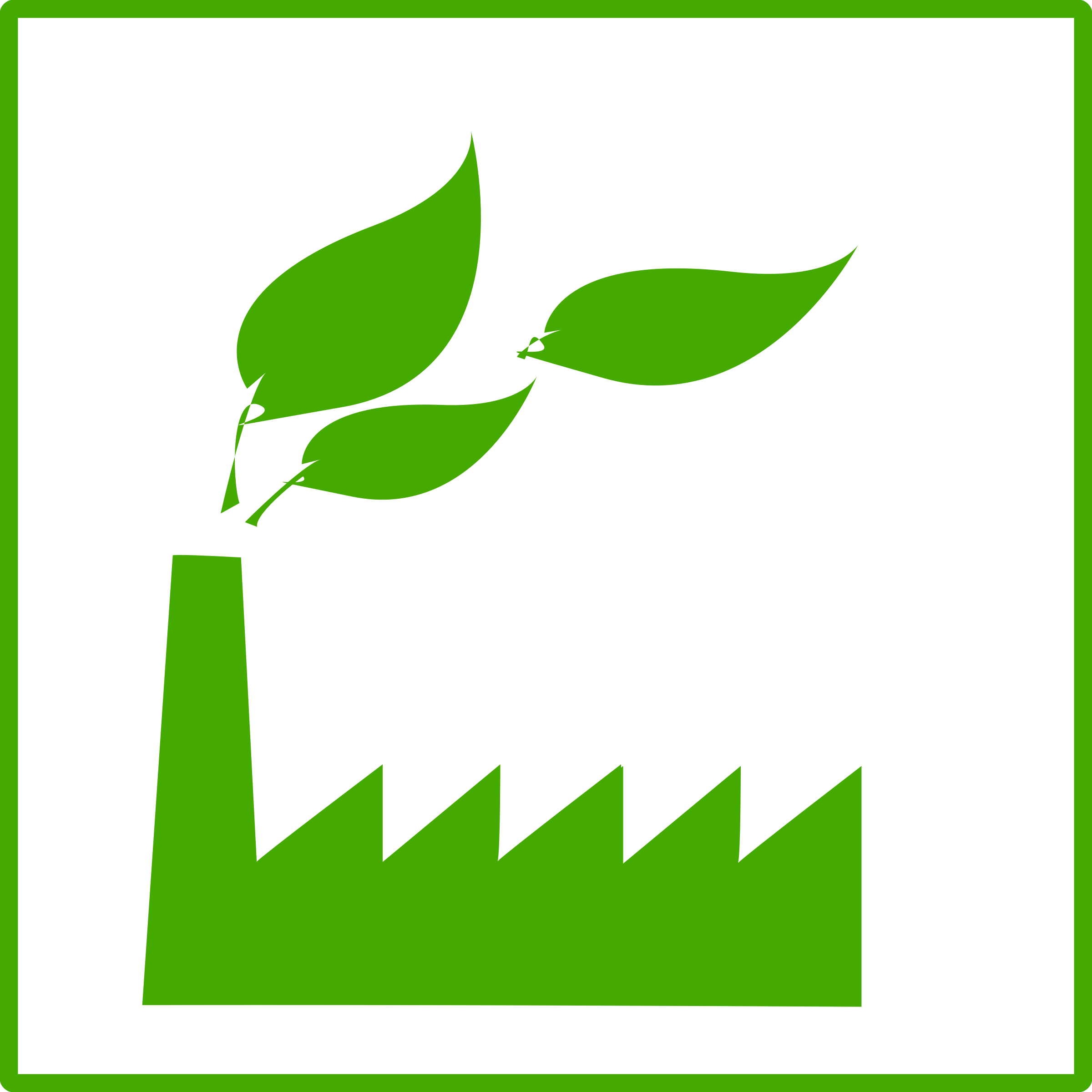 Eco green factory icon. Factories clipart manufacturing unit