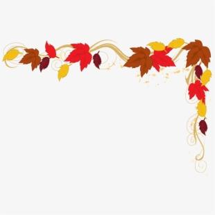 Corner leaf border . Clipart leaves fall festival