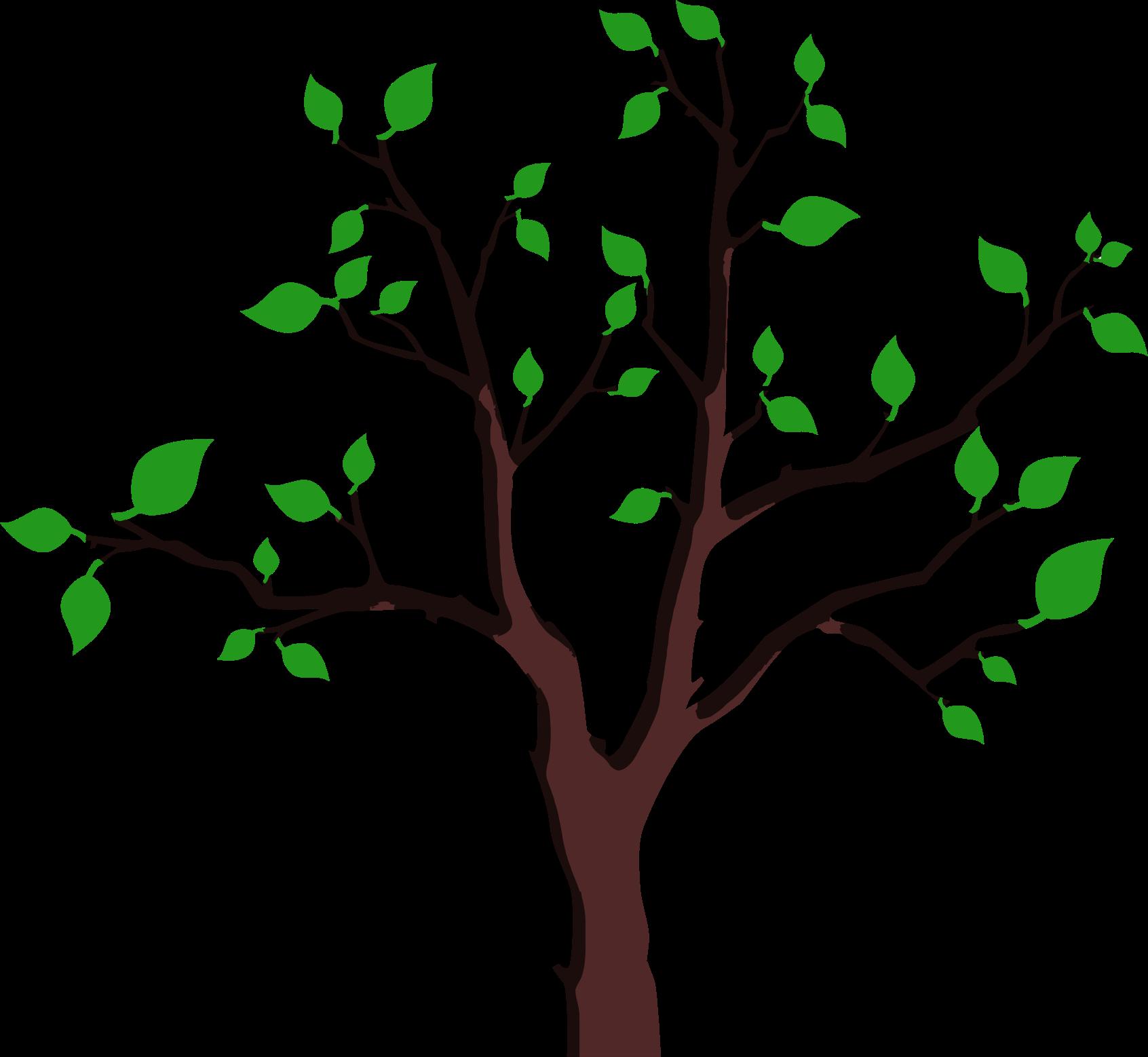 Foliage tree big image. Confetti clipart sparse
