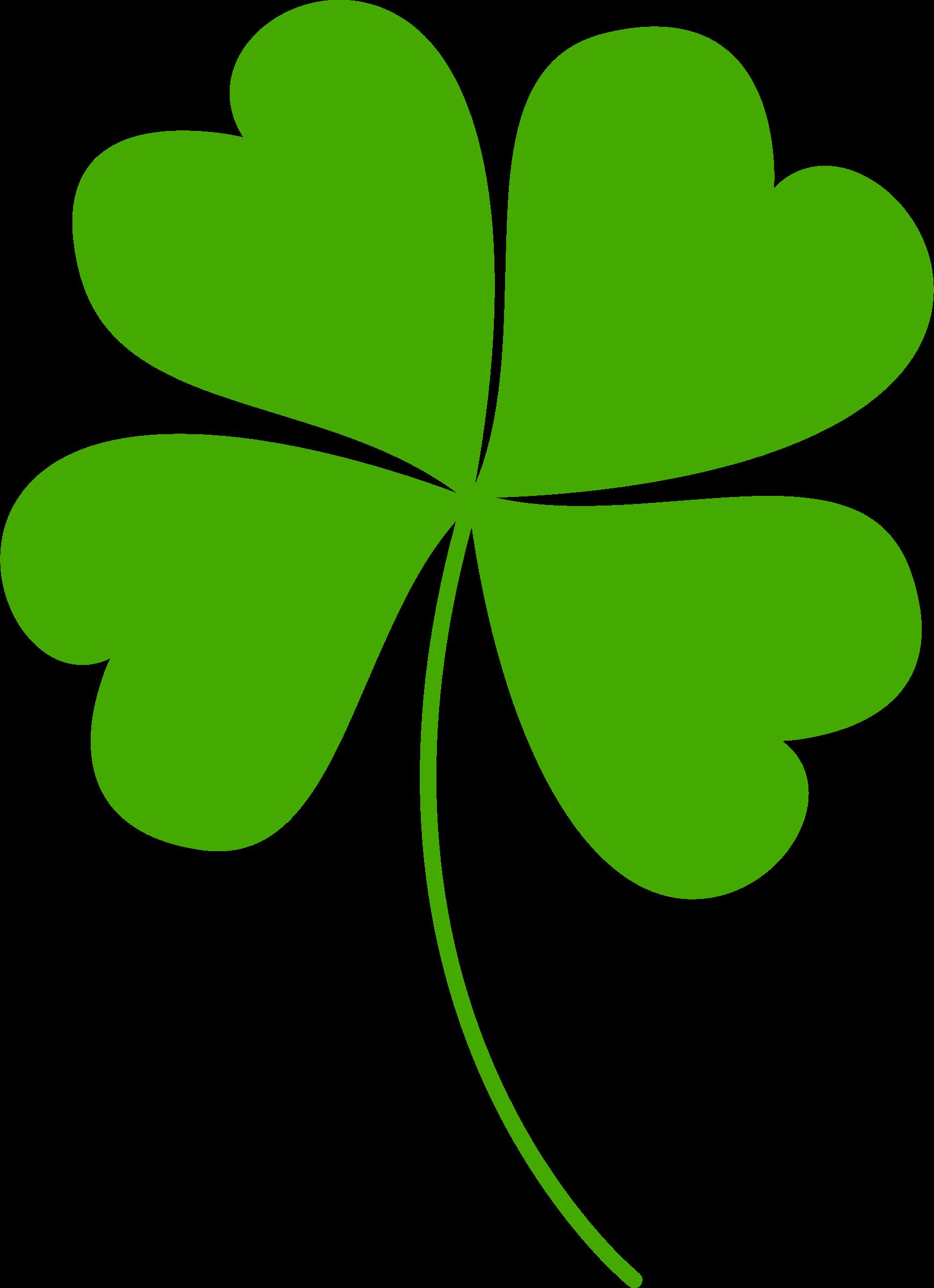 Clover clipart original. Four leaf vectorized big