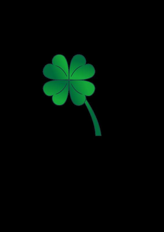 Four leaf free stock. Clover clipart original