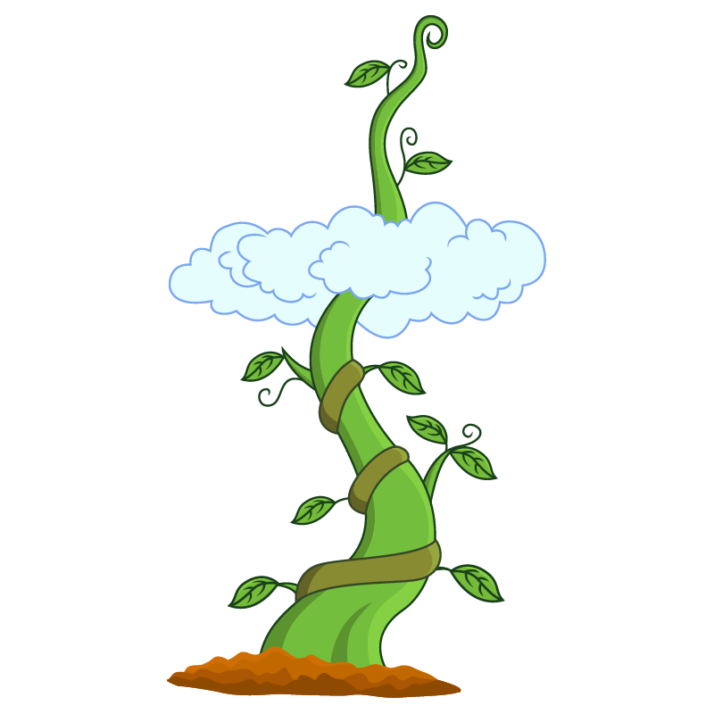 Clipart leaves jack and the beanstalk. Giant bean stickers decals