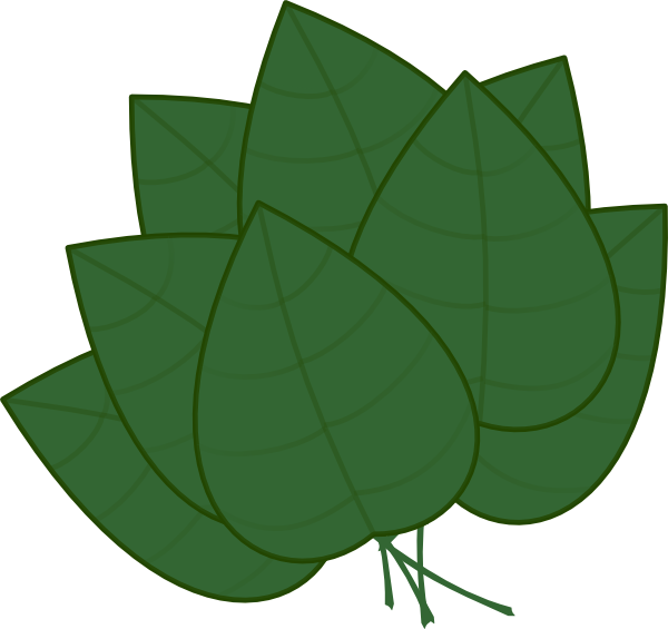 Clipart leaves large leave. Basil clip art at